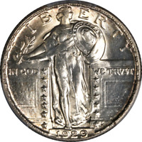 1929-P STANDING LIBERTY QUARTER PCGS MINT STATE 64 GREAT EYE APPEAL  STRIKE