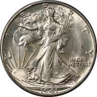 1941-S WALKING LIBERTY HALF PCGS MINT STATE 65 SUPERB EYE APPEAL STRONG STRIKE