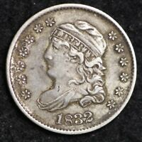 1832 CAPPED BUST HALF DIME CHOICE AU REVERSE DOUBLEING SHIPS FREE E185 WCTX