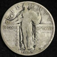 1927-D STANDING LIBERTY QUARTER CHOICE VG SHIPS FREE E327 WCN