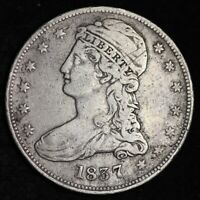 1837 CAPPED BUST HALF DOLLAR CHOICE VF SHIPS FREE E347 UPX