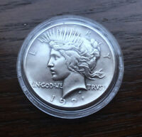 1921 SILVER PEACE DOLLAR. HIGH LUSTER TOP CONDITION