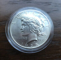 1925 SILVER PEACE DOLLAR IN CHOICE  BU CONDITION  LOW MINTAGE
