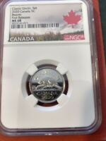 2020 CANADA 5 CENT CLASSIC NICKEL NGC MS68 FIRST RELEASES