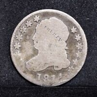 1814 BUST DIME - LARGE DATE - AG/G 31874