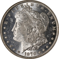 1879-O MORGAN SILVER DOLLAR NGC MINT STATE 63 BLAST WHITE SUPERB EYE APPEAL STRONG STRIKE