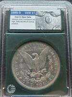 TOP 100 VAM 17 OVAL 0 1888 0 MORGAN SILVER DOLLAR SHIPS FREE