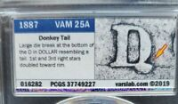 DONKEY TAIL TOP 100 VAM 25A PCGS SLAB 1887 MORGAN SILVER DOLLAR SHIPS FREE