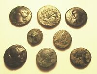 8 ANCIENT GREEK BRONZE COINS INCLUDING SYRACUSE. REF. 065.