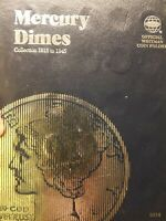 1916 1945 MERCURY SILVER DIME NEAR COMPLETE SET 76 OF 77 COI