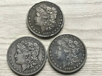 1879, 1879 O, AND 1879 S MORGAN SILVER DOLLARS 3 COINS