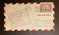 1932 USS AKRON ZEPPELIN COAST TO COAST TRIP CARRYING MAIL CO