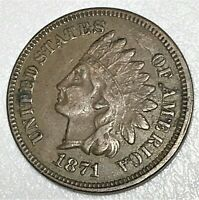 1871 INDIAN HEAD CENT PENNY