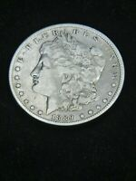 1889 O MORGAN SILVER DOLLAR VF/EXTRA FINE  BRIGHT WITH SOME LUSTER IN SAFLIP R67