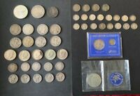 US SILVER COIN COLLECTION. MORGAN SILVER DOLLAR BARBER 50C A