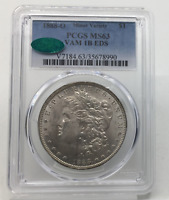 1888-O MORGAN SILVER DOLLAR MINT STATE 63 VAM 1B EDS PCGS CAC GREEN MINT STATE 63 $1