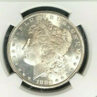 1880-S MORGAN SILVER DOLLAR - NGC MINT STATE 64 BEAUTIFUL COIN  REF25-004