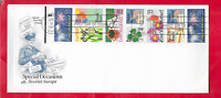 1987 SPECIAL OCCASIONS FDC WITH BOOKLET PANE OF 10 STAMPS  S