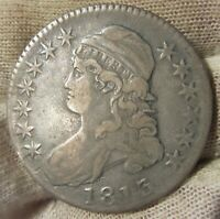1813 CAPPED BUST SILVER HALF DOLLAR  80813