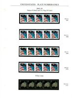 PNC COLLECTION 3   39C FLAGS & MORE   21 PNC STRIPS OF 5