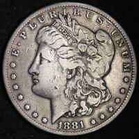 1881-CC MORGAN SILVER DOLLAR CHOICE VF SHIPS FREE E280 WNLM