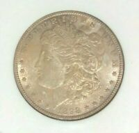 1898 MORGAN SILVER DOLLAR - OLD NGC MINT STATE 63 LOOKS GEMBEAUTIFUL COIN  REF17-019
