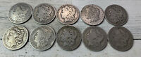 90 SILVER MORGAN DOLLARS LOT OF 10. 1880-1900