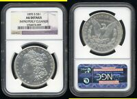 1895 S MORGAN DOLLAR  NGC AU DETAILS  IMPROPERLY CLEANED