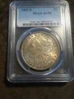 1887 S MORGAN DOLLAR PCGS AU58  KEY DATE