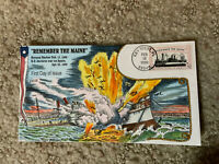 3192 REMEMBER THE MAINE COLLINS HANDPAINTED FDC