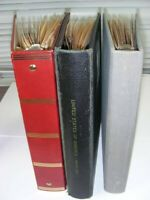 US 1000S OF USED STAMPS IN STOCK PAGES 3 BINDERS