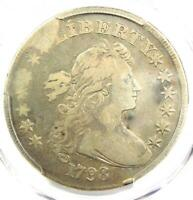 1798 DRAPED BUST SILVER DOLLAR $1 - CERTIFIED PCGS F12 FINE - $1,600 VALUE