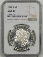 HIT LIST 40 & WOW  VAM 19B 1878 S FROSTY NGC 64  STAR  MORGAN SHIPS FREE
