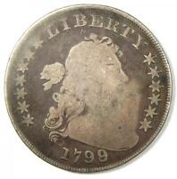 1799 DRAPED BUST SILVER DOLLAR $1 COIN -  EARLY TYPE COIN