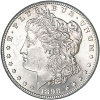 1898 S MORGAN SILVER DOLLAR UNCIRCULATED US MINT COIN S/S RPM SEE PICS E629