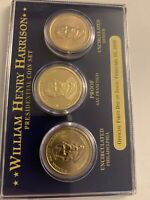 PCS  PRESIDENTIAL COIN SET OF 3 WILLIAM HENRY HARRISON DOLLAR COINS