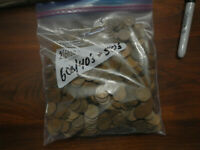 BAG OF 600 WHEAT PENNIES 1940'S AND 1950'S
