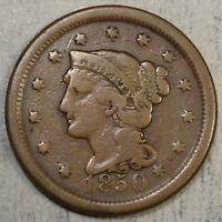 1850 LARGE CENT,  GOOD, INEXPENSIVE TYPE EXAMPLE    0525-03