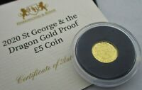 A SMALL 24CT  NOT 22CT  GOLD 2020 ST GEORGE & THE DRAGON 5 C