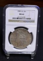 1885-CC MORGAN DOLLAR - NGC MINT STATE 62 32484