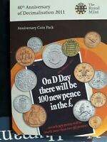 2011 BRILLIANT UNCIRCULATED COIN COLLECTION. 40TH ANNIVERSAR