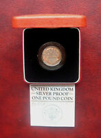 UK 1984 SILVER PROOF PIEDFORT POUND COIN