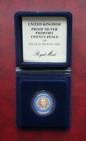 UK 1982 SILVER PROOF PIEDFORT 20 PENCE