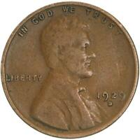 1929 D LINCOLN WHEAT CENT FINE PENNY FN