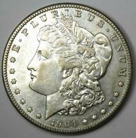 1904-S MORGAN SILVER DOLLAR $1 - CHOICE EXTRA FINE  / AU DETAILS -  DATE THIS SHARP