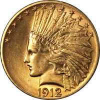 1912 P INDIAN GOLD $10 NICE BU SUPERB EYE APPEAL STRONG STRI