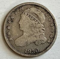 USA SILVER 10 CENTS DIME 1830 - CAPPED BUST