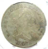 1807 DRAPED BUST HALF DOLLAR 50C COIN - CERTIFIED PCGS VF25 - $800 VALUE