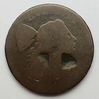 DATELESS LIBERTY CAP FLOWING HAIR LARGE CENT LETTERED EDGE 1794 / 1795