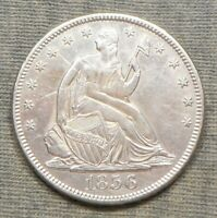 NICE 1856 S SEATED LIBERTY HALF DOLLAR